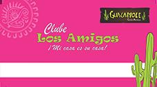 Cartão Rosa Clube Los Amigos Guacamole
