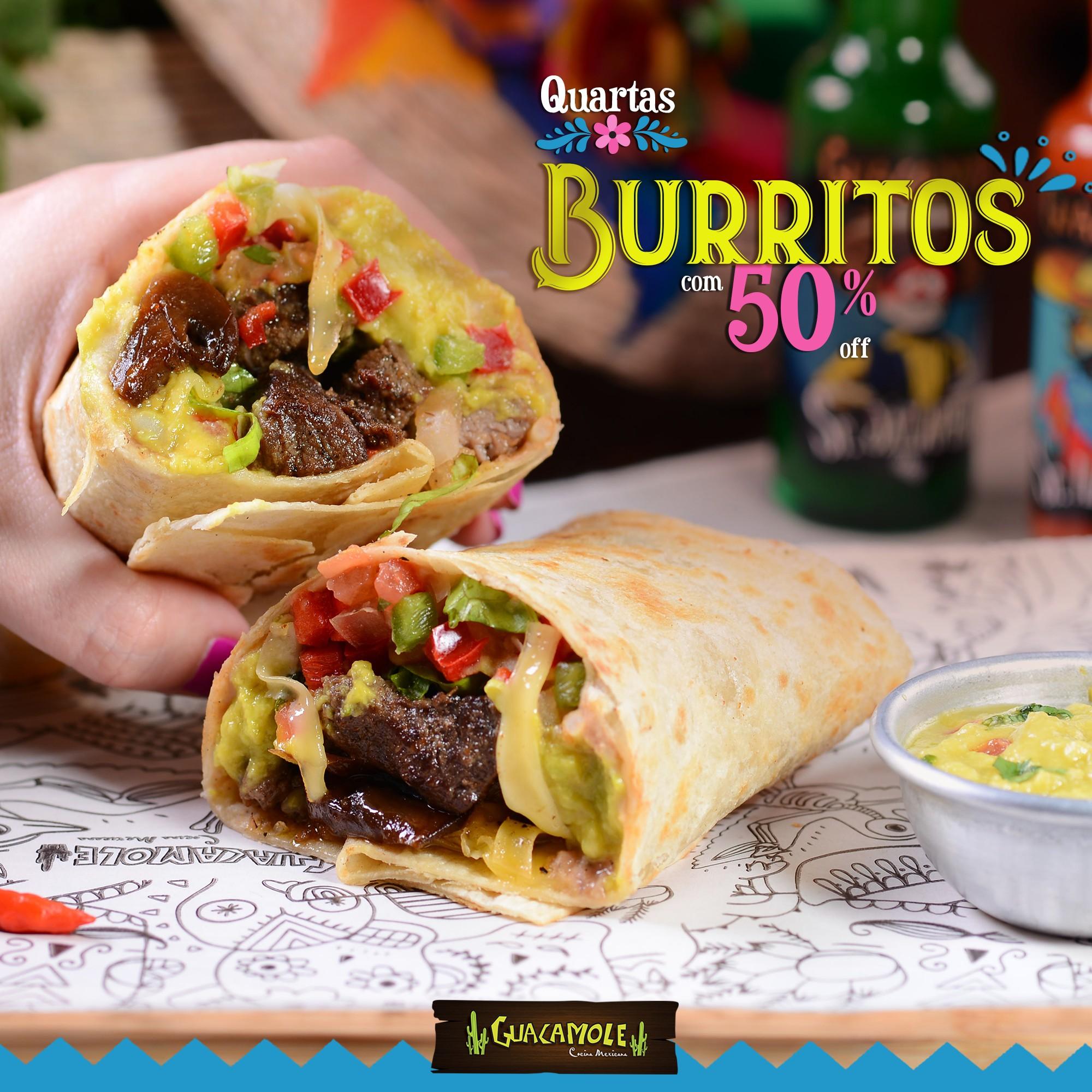 Burritos 50%