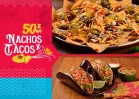 Domingos e Segundas - Nachos e tacos 50% OFF