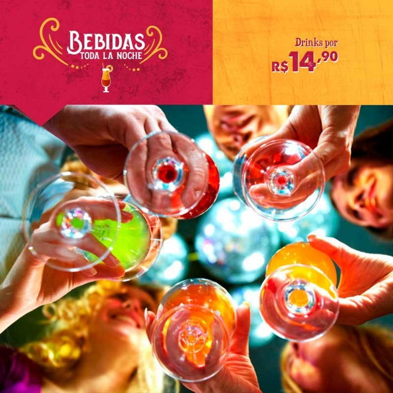 Drinks por R$ 14,90